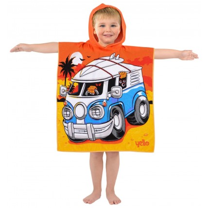 Monster Camper Van Hooded Poncho Towel