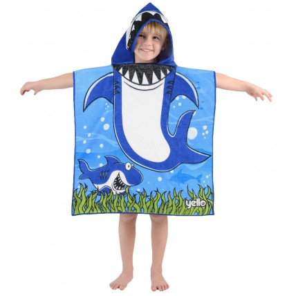 Shark Hooded Poncho Towel