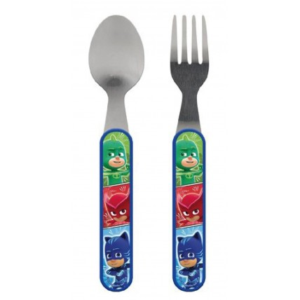 Boys PJ Masks Fork + Spoon