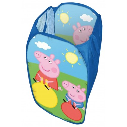 Boys Girls Peppa Pig Pop Up Storage Basket