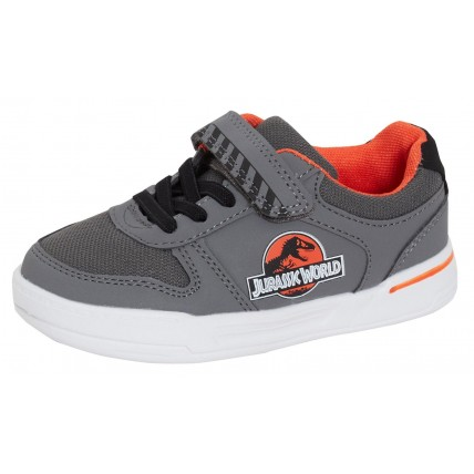 Boys Jurassic World Sports Trainers Kids Dinosaur Easy Touch Fasten Pumps Size