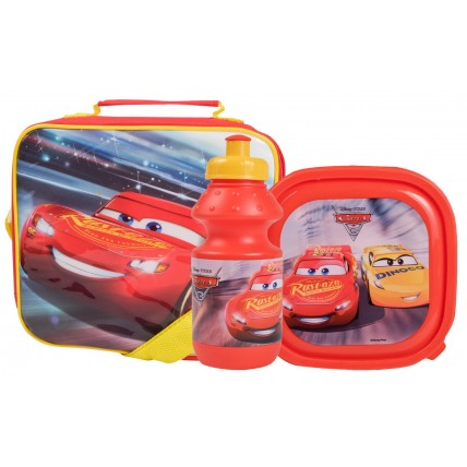Disney Cars Lunch Bag + Sandwich Box + Bottle Set