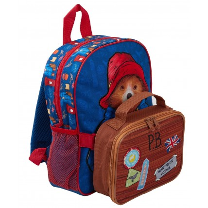Paddington Bear Kids Backpack + Detachable Lunch Bag/Pencil Case
