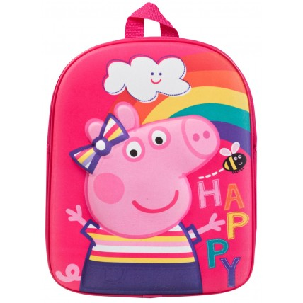 Girls Peppa Pig 3D Backpack