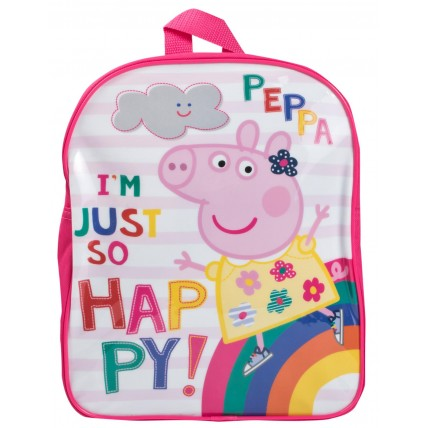Girls Peppa Pig I'm So Happy Backpack