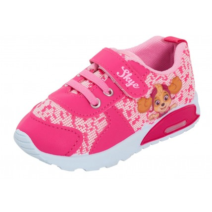 Paw Patrol Girls Light Up Sports Trainers Kids Skye Casual Skate Shoes Sneakers