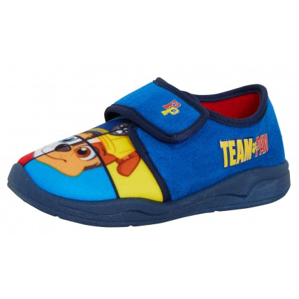 Boys Paw Patrol Slippers Kids Chase Marshall Touch Fasten House Nursery Shoes