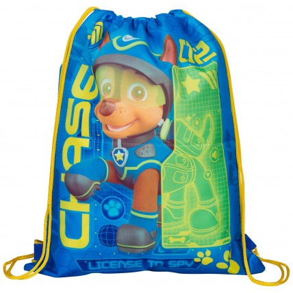 Boys Paw Patrol Drawstring Bag Chase