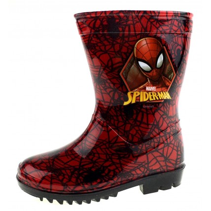 Spiderman Red Wellington Boots - Web
