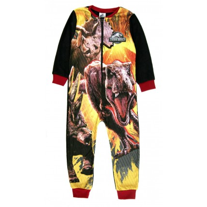 Boys Jurassic World Fleece Onesie All In One