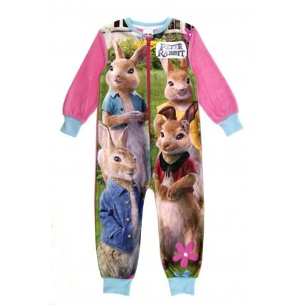 Girls Peter Rabbit Fleece Onesie