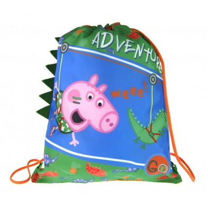 Peppa Pig George Pig 3d Gym Bag - Dino