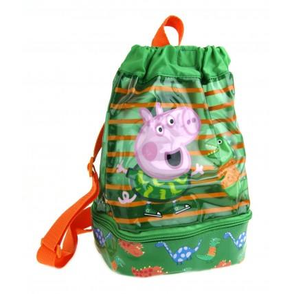 George Pig Water Resistant Swimming Bag - Green