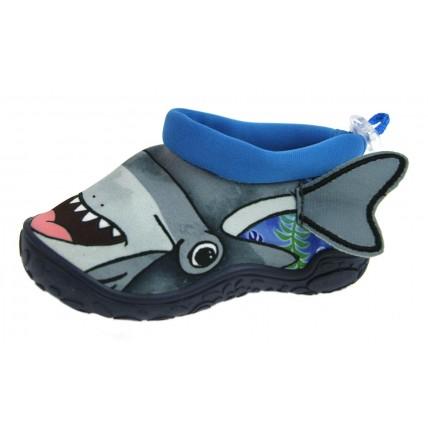 Boys Shark Aqua Shoes - Hammerhead