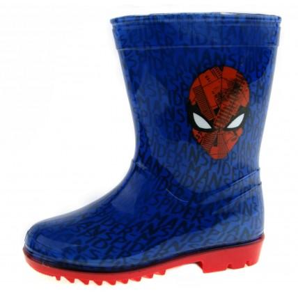 Spiderman Wellington Boots - Logo Face