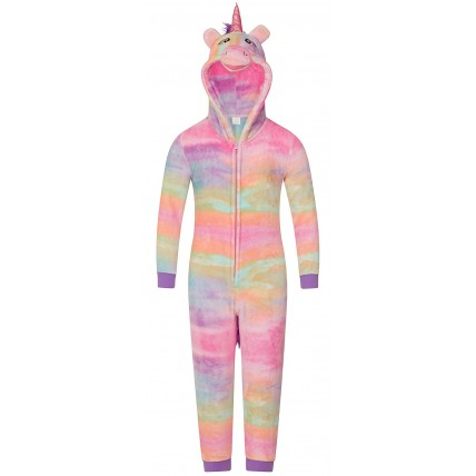 Kids Fleece All In One - Rainbow Unicorn