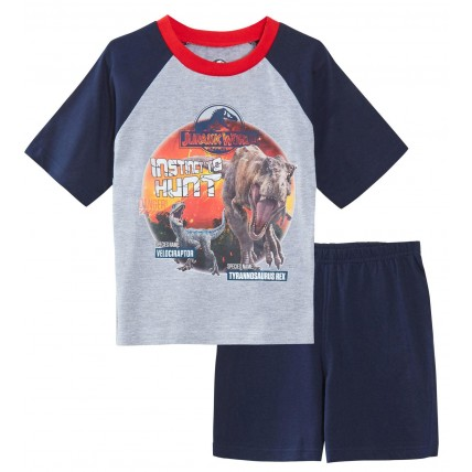 Jurassic World Boys Short Pyjamas