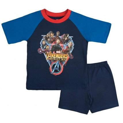 Marvel Avengers Boys Short Pyjamas - Infinity War