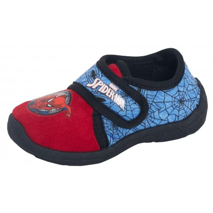 Boys Spiderman Easy Fasten Slippers