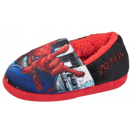Marvel Spiderman Boys Slippers - Spider-Man City Scene