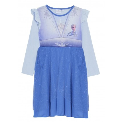 Girls Disney Frozen Nightdress Kids Elsa Dress Up Nightgown Nightie Nighty Size