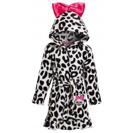 Girls LOL Surprise Dolls Hooded Fleece Bathrobe Kids Diva Dressing Gown Robe