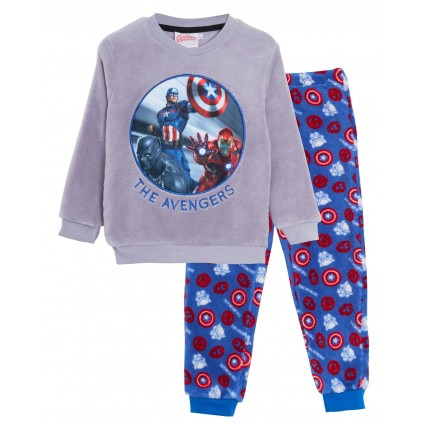 Boys Marvel Avengers Fleece Pyjamas Kids Super Hero Twosie Lounge Set Pjs Size