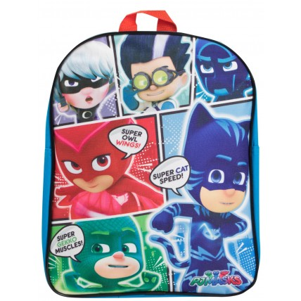Boys PJ Masks Comic Book Style Backpack