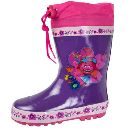 Trolls Tie Top Wellington Boots