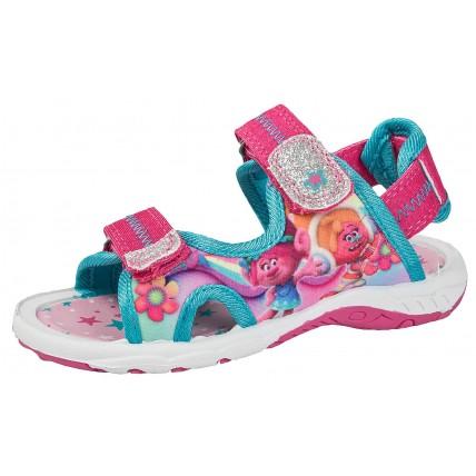 Trolls Sports Sandals - Glitter Poppy