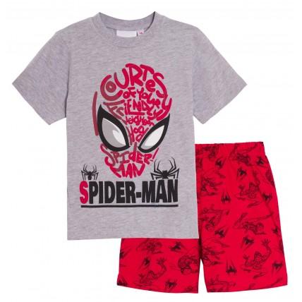 Boys Spiderman Short Pyjamas Kids Marvel Shortie Pjs Set Super Hero Nightwear