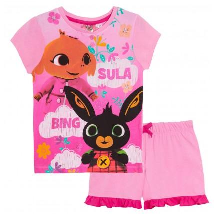 Girls Bing Bunny Short Pyjamas Kids Sula Shortie Pjs Lounge Set Nightwear Size