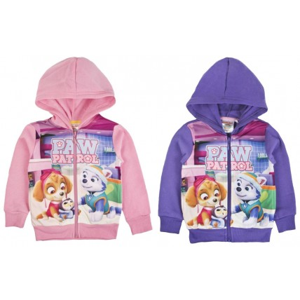 Paw Patrol Girls Printed Design Hooded Jacket