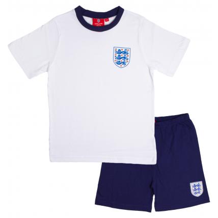 England Short Pyjama Set - White/Blue