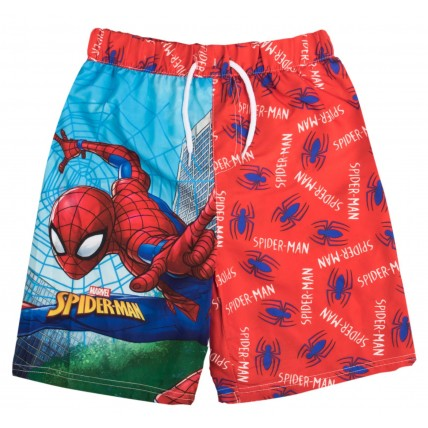 Boys Spiderman Swim Shorts Kids Character Swimwear Beach Holiday Shorts Trunks