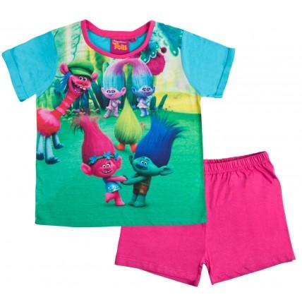 Girls Trolls Short Pyjamas - Poppy