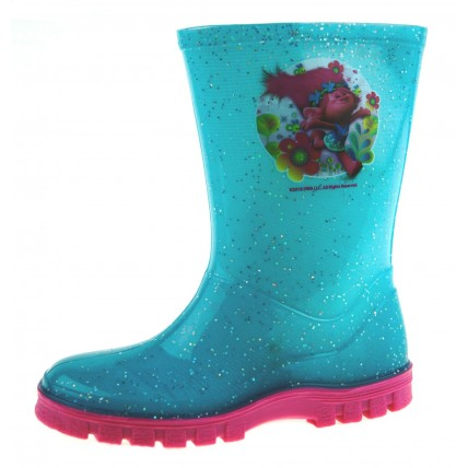 Girls Trolls Glitter Wellington Boots