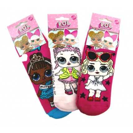 Girls LOL Surprise Bed Socks- Grippers