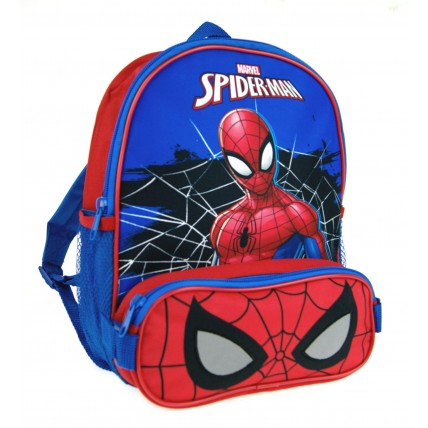 Marvel Spiderman Backpack  Bag + Pencil Case