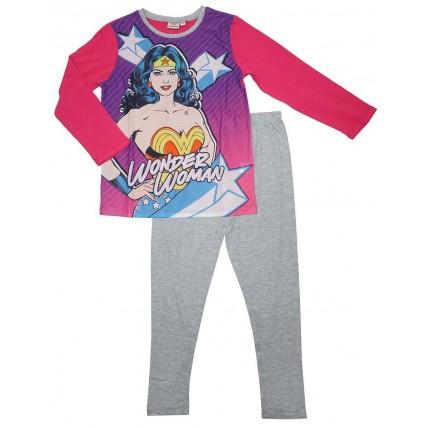 Wonder Woman Girls Long Pyjamas