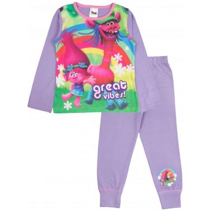 Trolls Long Pyjamas - Great Vibes