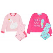 Girls Slogan Pyjamas Childrens Pjs Kids Infants Toddlers Soft Luxury Lounge Set