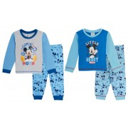 Baby Boys Disney Mickey Mouse Long Pyjamas Toddlers Full Length Pjs Set Size