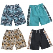 Boys 2 Pack Tropical Print Swim Shorts Kids Summer Holiday Swimming Trunks Size