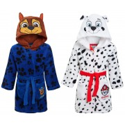 Boys Paw Patrol 3D Novelty Hooded Fleece Dressing Gown