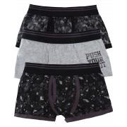 Boys 3 Pack Slogan Boxer Shorts