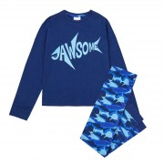 Kids Jawsome Shark Pyjamas Older Boys Teens Pjs Luxury Lounge Set Gift Size