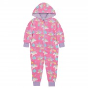 Kids Fleece All In One - Unicorn Print