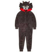 Kids Fleece All In One - 3D Wolf