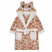 Girls Dressing Gown - 3D Giraffe